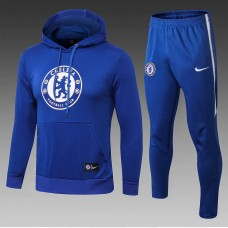 18-19 Chelsea Blue Hoody Training Suit (18-19切尔西蓝色帽子训练服)