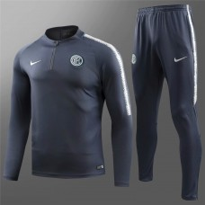 18-19 Inter Milan Navy Blue Training Suit (18-19国米深蓝色(窄边)训练服)