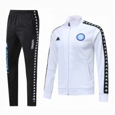 18-19 Napoli White Zipper Training Suit (18-19那不勒斯白色拉链训练服)