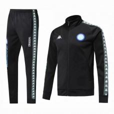18-19 Napoli Black Zipper Training Suit (18-19那不勒斯黑色拉链训练服)