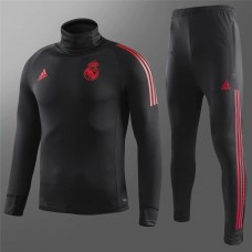 18-19 Real Madrid Black High Neck Training Suit (18-19皇马黑色高领训练服)