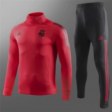 18-19 Real Madrid Red High Neck Training Suit (18-19皇马红色高领训练服)