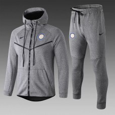 18-19 Inter Milan Grey Hoody Zipper Training Suit (18-19国米灰色帽子拉链训练服)