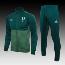 18-19 Palmeiras Green Zipper Training Suit (18-19帕尔梅拉斯绿色拉链训练服)