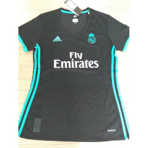 c8245544582 17-18 Real Madrid away Women s Jersey (17-18 皇马客场黑色女装