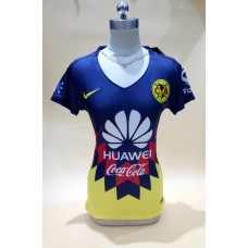 17-18 Club America Blue Women's Jersey (17-18 美洲蓝色女装)