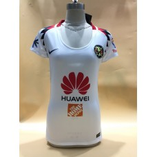 17-18 Club America Away White Women's Jersey  (17-18 美洲客场白色女装)