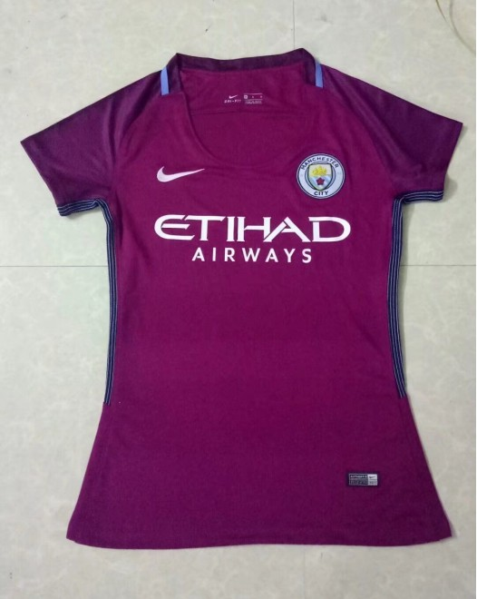 17-18 Manchester City Away Purple Women's Jersey (17-18 曼城客场紫色女装)