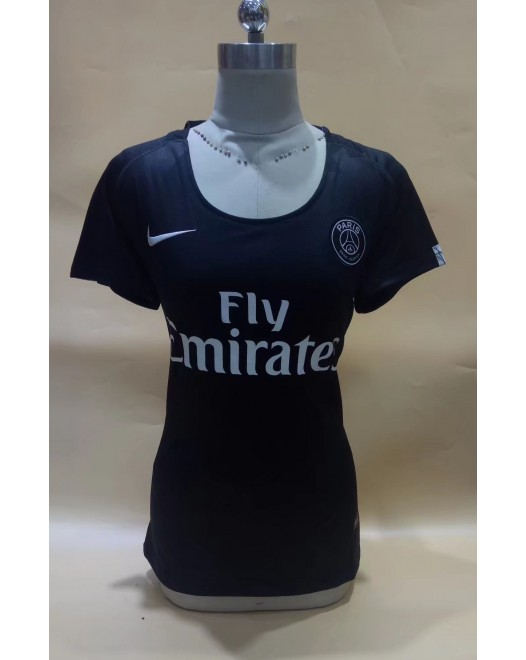 17-18 PSG Third Black Women's Jersey (17-18 巴黎二客黑色女装)