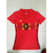 2018 World Cup Belgium Home Red Women's Jersey (2018世界杯比利时主场红色女装)