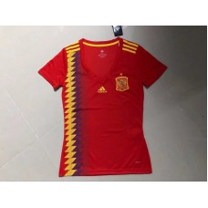 2018 World Cup Spain Home Red Women's Jersey (2018世界杯西班牙主场红色女装)