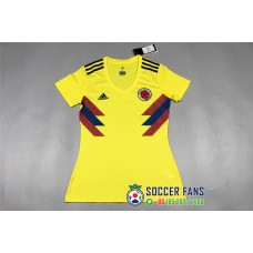 2018 World Cup Columbia Home Yellow Women's Jersey (2018世界杯哥伦比亚主场黄色女装)
