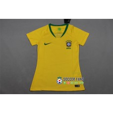 2018 World Cup Brazil Home Yellow Women's Jersey (2018世界杯巴西主场黄色女装)