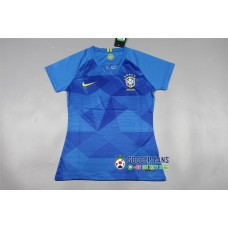 2018 World Cup Brazil Away Blue Women's Jersey (2018世界杯巴西客场蓝色女装)