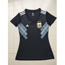 2018 World Cup Argentina Away Black Women's Jersey (2018世界杯阿根廷客场黑色女装)