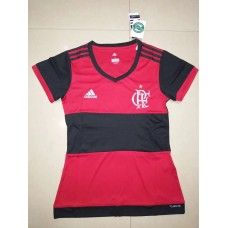 17-18 Flamengo Home Red Women's Jersey (17-18费拉门戈主场红色女装)
