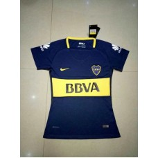 17-18 Boca Home Blue Women's Jersey (17-18博卡主场蓝色女装)