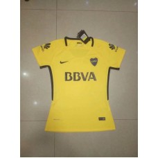 17-18 Boca Away Yellow Women's Jersey (17-18博卡客场黄色女装)