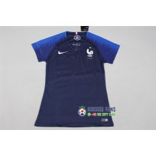2018 World Cup France Home Blue Women's Jersey (2018世界杯法国主场蓝色女装)