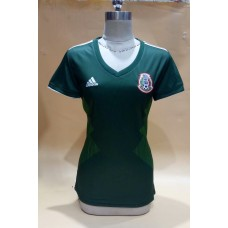 2018 World Cup Mexico Home Green Women's Jersey (2018世界杯墨西哥主场绿色女装)