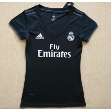 18-19 Real Madrid Away Women's Jersey (18-19皇马深蓝色客场女装)