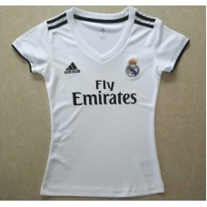 18-19 Real Madrid Home White Women's Jersey (18-19皇马主场白色女装)