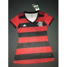 18-19 Flamengo Home Red Women's Jersey (18-19弗拉门戈主场红色女装)
