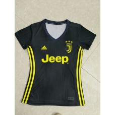 18-19 Juventus Third Black Women's Jersey (18-19尤文二客黑色女装)
