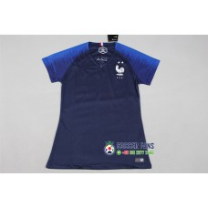 18-19 France Home Blue Two Star Women's Jersey (2018世界杯法国主场蓝色二星女装)