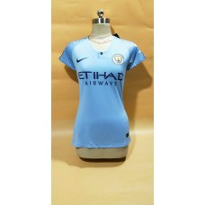 18-19 Manchester City Home Blue Women's Jersey (18-19曼城主场蓝色女装)