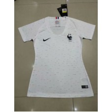 18-19 France Away White Two Star Women's Jersey (18-19 法国客场白色二星女装)