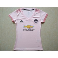 18-19 Manchester United Away Pink Women's Jersey (18-19曼联客场粉红色女装)