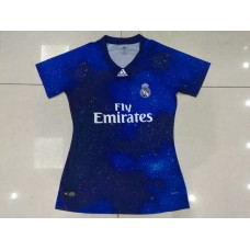 18-19 Real Madrid Blue Commemorative Edition Women's Jersey (18-19皇马星空蓝色纪念款女装)
