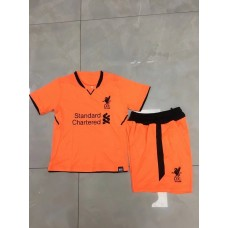 17-18 Liverpool Third Orange Kid Kit (17-18 利物浦二客橙色童装)