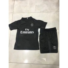 17-18 Paris Saint Germain Third Black Kid Kit (17-18 巴黎二客童装)