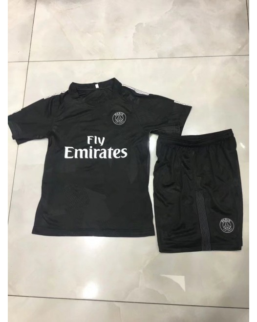 17-18 Paris Third Black Kid Kit (17-18 巴黎二客童装)