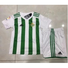 17-18 Real Betis Home White and Green Kid Kit (17-18贝蒂斯主场白色和绿色童装)