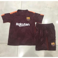 17-18 Barcelona Third Red Kid Kit (17-18巴塞二客红色童装)