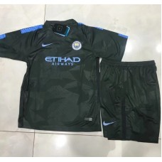 17-18 Manchester City Third Green Kid Kit (17-18曼城二客绿色童装)