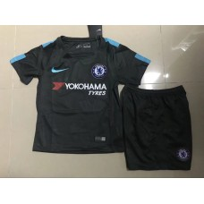 17-18 Chelsea Third Black Kid Kit (17-18切尔西二客黑色童装)