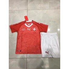 2018 World Cup Switzerland Red Kid Kit (2018世界杯瑞士主场红色童装)