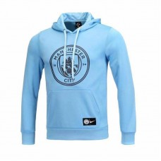 18-19 Manchester City Blue Hoodie (18-19曼城蓝色帽子卫衣)