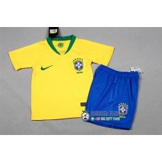 2018 World Cup Brazil Home Yellow Kid Kit (2018世界杯巴西主场黄色童装)