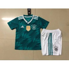 2018 World Cup Germany Away Green Kid Kit (2018世界杯德国客场绿色童装)