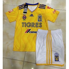 18-19 Tigres Home Yellow Kid Kit (18-19老虎主场黄色童装)