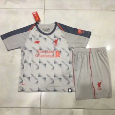 18-19 Liverpool Third Grey Kid kit (18-19利物浦二客灰色童装)