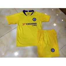 18-19 Chelsea Away Yellow Kid kit (18-19切尔西客场黄色童装)
