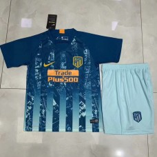 18-19 Atlético Madrid Third Blue Kid kit (18-19马竞二客蓝色童装)