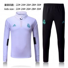 17-18 Real Madrid White kid training suit (17-18皇马白色童装训练服)