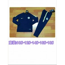 18-19 Manchester City Blue kid training suit (18-19曼城蓝色童装训练服)